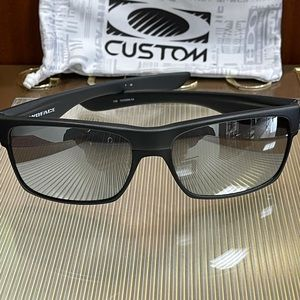 Brand New Oakley Black with Silver Mirror TwoFace